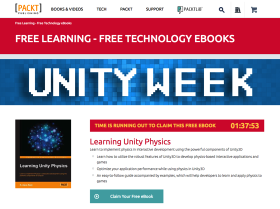 FREE eBooks Every Day from PACKT Books: This week: Unity3D Gaming Engine